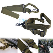 Hunting Tactical Adjustable Single Point Sling Bungee Rifle Quick Release Buckle