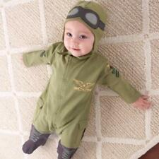 Baby Boy Toddler Air Force Infant Military Jumpsuit Costume Romper Costume Warm