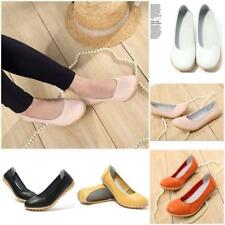 Chic Womens Ladies Casual  Leather Ballet Flats Shoes Oxfords Hollow Shoes Lin