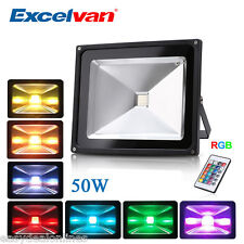 10W 20W 30W 50W RGB LED Flood Light Outdoor Landscape Lamp Waterproof Spotlight
