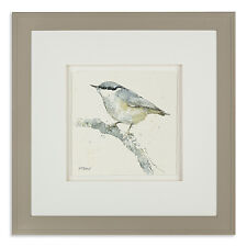 Adelene Fletcher 'Nuthatch' Framed Watercolour Print / Country Bird Picture