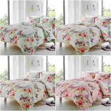 NEW ASHLEY BUTTERFLY EIFFEL TOWER FLORAL DUVET QUILT COVER PILLOWCASE BED SET