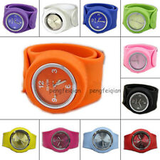 Colorful Silicone Wristwatch Slap Strong Watch Sports Bracelet All Size Adult