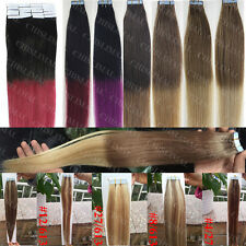 """Ombre T PU Skin Weft Tape in 100% Remy Human Hair Extensions 16""""-24"""" 20/40pcs"""