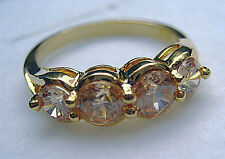 Size 5-9 Channel set lady's champagne sapphire cz 10kt yellow gold filled ring