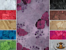 """ORGANZA FLORAL APPLIQUE FABRICS / 54"""" WIDE / SOLD BY THE YARD"""