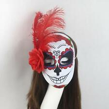 Day of the Dead Masquerade Ladies Face Mask Women Costume Fancy Dress Halloween