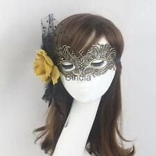Lady Flower Feather Lace Eye Mask Halloween Party Costume
