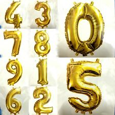 14''/35.5cm Gold Foil Letter Numbers Balloon Birthday Wedding Party Decoration