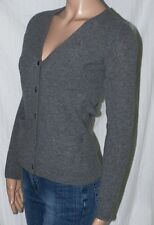 RALPH LAUREN CHARCOAL GRAY WOOL CARDIGAN SWEATER PLEATED BACK NWT S L