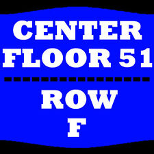 2 TIX JEFF DUNHAM 11/5 FLOOR 51 ROW F NORTH CHARLESTON COLISEUM