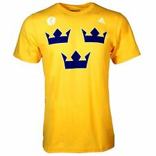 Sweden Hockey 2016 World Cup Of Hockey Primary Logo Go To T-Shirt (Gold)