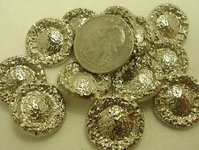 New Lots of Italian Silver Nugget Metal Buttons 9/16, 11/16, 13/16, 1 inch  (SJ)