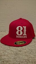 Hells Angels Nomads Hawaii Support Flexfit Flatbrim Hat RED