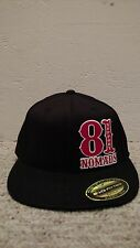 Hells Angels Nomads Hawaii Support Flexfit Flatbrim Hat BLACK