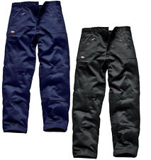 Dickies Redhawk Action Trousers Knee Pad Pockets Men Work Wear WD814 Polycotton