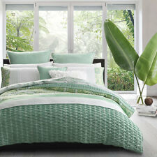 Platinum Logan and Mason Willow Green Duvet Doona Quilt Cover Set Queen King Bed