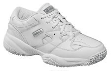 Skidbuster Mens Slip Resistant Athletic W White Action Leather Shoes