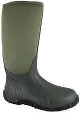 Smoky Mountain Boots Mens Amphibian 15in Green Rubber/Neoprene Waterproof