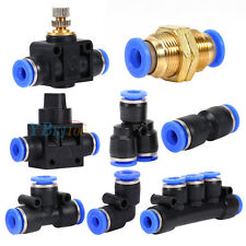8 Types Pneumatic Fittings Air Valve Water Hose Tube Pipe Connector Speed Joiner