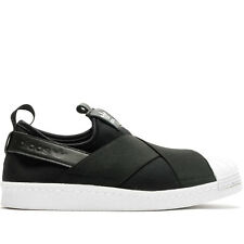 Adidas Womens Originals Superstar Slip on casual shoes black white S81337