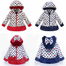 Baby Girls Kid Cartoon Mickey Children Winter Jacket Hooded Cotton Snowsuit Coat