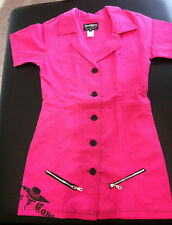 CAPES AND CANES Old School PINK Work Dress Punk Goth Glam NEW Women's Size 7 + 9