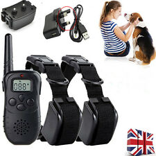 LCD Rechargeable Waterproof Dog Anti Bark Training Shock E-Collar Remote Control