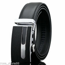 Luxury Men's Genuine Leather Automatic Buckle Waist Strap Belt Waistband Hot New