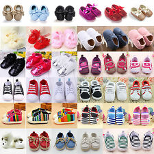 Infant Boys Girls Soft Sole Baby Shoes Toddler Crib Sneakers Moccasin Prewalkers