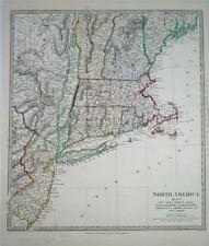 Antique SDUK Map of North America, 1833 - USA - New York - Maine - Vermont