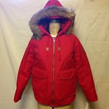 Woolrich Womens Patrol Down Short Parka 15119 Red New With Tags