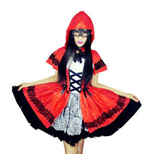 Halloween Costume Little Red Riding Hood Costume Adult Women Cosplay Dress Party
