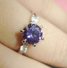 Lot new listing Size 5-9 women purple sapphire cz 10kt white gold filled GF ring