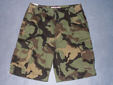 NWT Mens Classic Fit Camouflage Cargo Shorts by Arizona Size 31