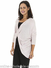 Womens Italian Long Sleeve Cardigan Crossover Top One Size