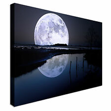 Moonset Canvas Wall Art prints high quality
