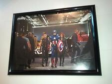 Avengers Poster #198 FRAMED Movie Captain America Hawkeye and Black Widow SHIELD
