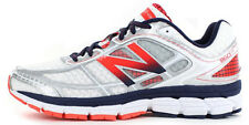 New Balance Men's 860V5 White with Red Running Shoe