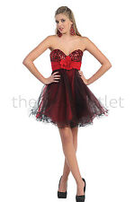 Short Homecoming Dresses Strapless Sweetheart Sassy Tulle Prom Cocktail Party