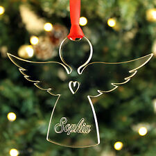 Personalised Name Angel Christmas Tree Decoration Keepsake Xmas Bauble Gift Idea