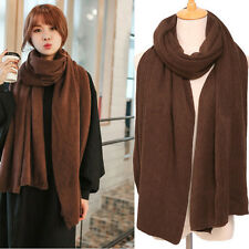 New Autumn Winter 1pc Solid Color Soft Knitted Woolen Scarf Korean Version Hot