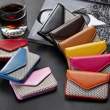 Faux Leather Cardcase Clutch Name Cards/ID/Credit Card Holder Case Business Gift