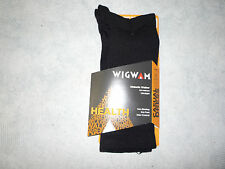 Wigwam Diabetic Walker Socks, Wigwam Diabetic Crew Socks F1221, 1 Pair, USA,Blk
