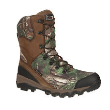 Rocky Mens Realtree Camo Leather Adaptagrip WP Insulated Hunting Boots