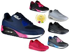 Womens Mens Running Air Trainers Shock Absorbing Fitness Gym Sports Shoes Size