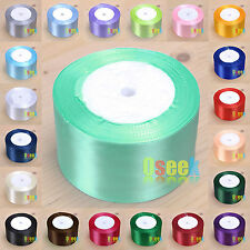 "10 Rolls 25 Yards 2""(50mm) Satin Ribbon Bow Wedding Craft Sewing Decor Wholesale"