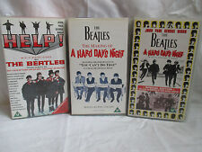 The Beatles A Hard Days Night & The Making Of + Help VHS Video Tapes