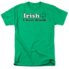 Irish I Were Drink Funny Humor Green Adult T-Shirt - (2X-Large)