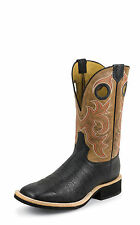 Tony Lama Mens Black Crunch Shoulder Crepe 11in Western Boots